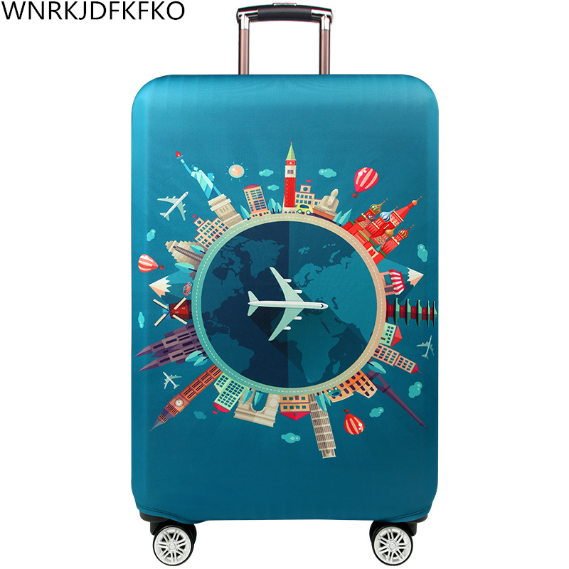 Travel Suitcase Dust Cover Trolley Case Dust Cover Proof Travel Accessories Elastic Fabric Luggage Cover Suitable 18-32 Inch