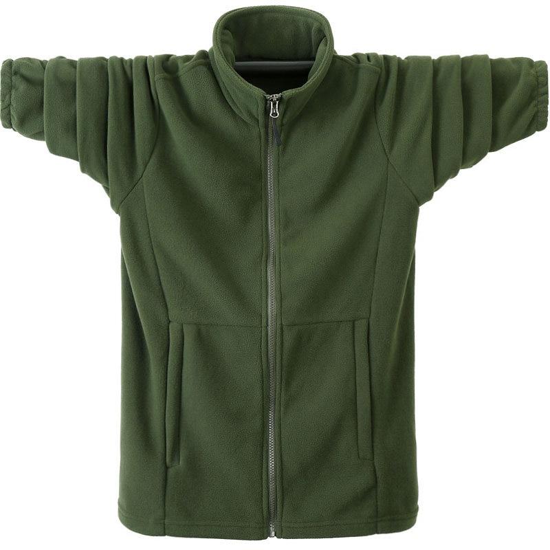 Autumn Winter Hoodies Men Casual Hoodies Sweatshirt Jacket Male Fleece Warm Army Green Windbreaker Large Size Soild Coats 6XL