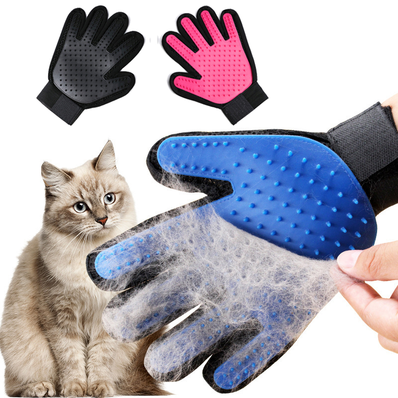 1pc Glove Cats Removing Hair from Domestic Animals Massage Glove For Combing Cats Puppies Dogs Small
