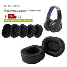 NULLKEAIเปลี่ยนThickenหนังสำหรับSony MDR ZX770ap MDR ZX770bn MDR ZX750AP MDR ZX750BN MDR ZX780DCหูฟัง