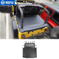 MOPAI Interior Accessories for Jeep Wrangler TJ Leather Car Trunk Pet Isolation Net Cover for Jeep Wrangler TJ 1997 2006