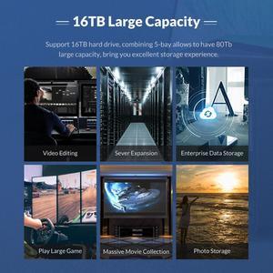Image 5 - ORICO NS سلسلة 3.5 4 خليج نوع C قاعدة تركيب الأقراص الصلبة دعم 64 تيرا بايت USB3.1 5Gbps HDD حالة UASP مع 78 واط محول قالب أقراص صلبة