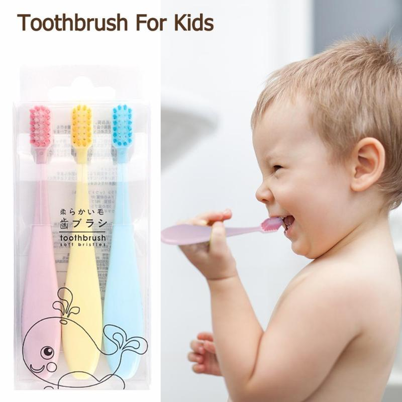 3pcs Soft Bristle Toothbrush Small Head Baby Oral Care Tooth Brush Cute Mini Toothbrush For Children image