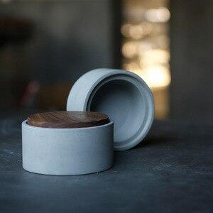 Image 5 - Molde redondo quadrado da caixa do hexágono moldes concretos do silicone da caixa de armazenamento do cimento com molde da tampa