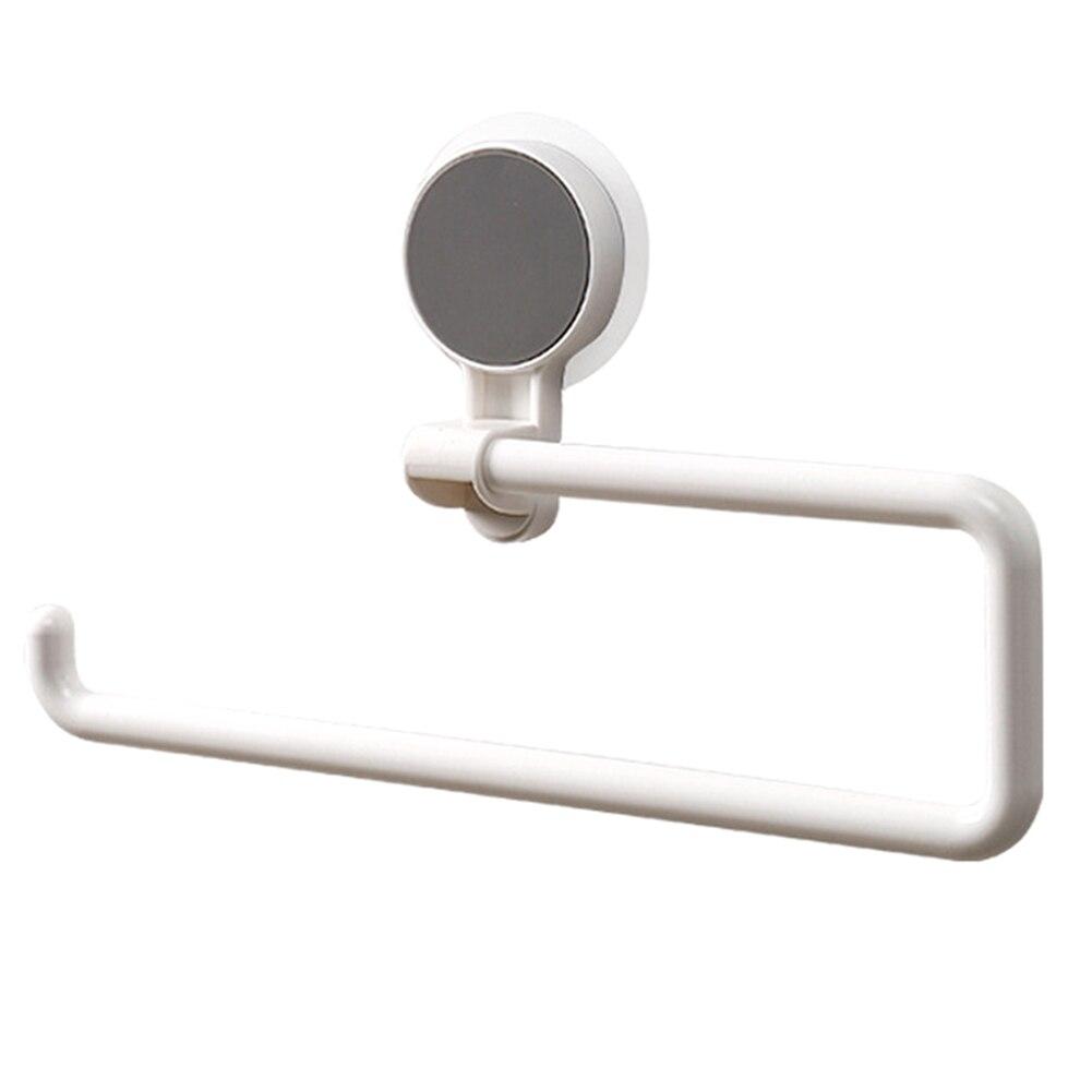 Multi-function Bathroom Towel Paper Roll Rack Vacuum Suction Cup Kitchen Bathroom Holder PI669