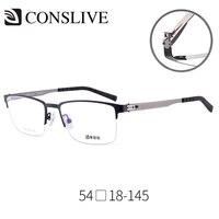 Titanium Eye Glass Frame for Men Half Rimless Titanium Man Eyeglasses Multifocal Progressive Optical Spectacles Frames V6909
