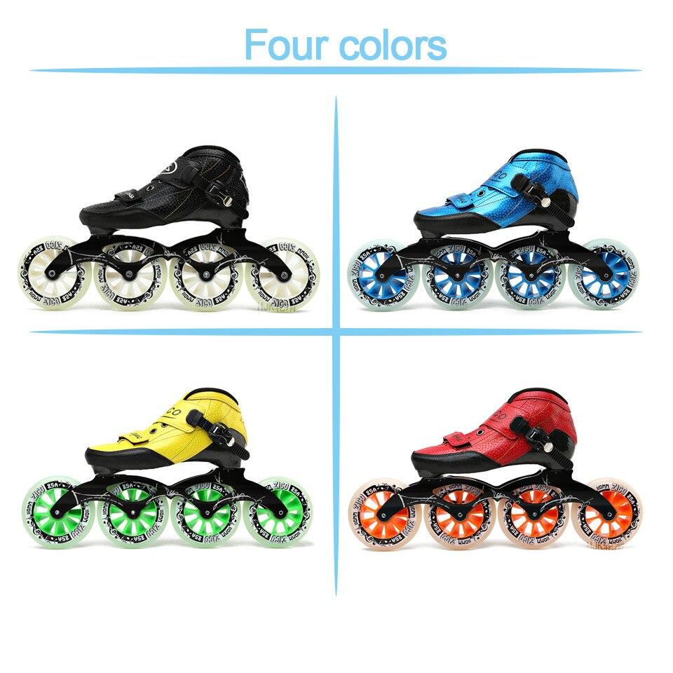 Dubbele Rij Rolschaatsen 4 Wiel Skates Voor Meisjes Aluminium Basis Polyurethaan PU90A Wielen Zwart PU Schoenen Roze Wielen Verzending - 3
