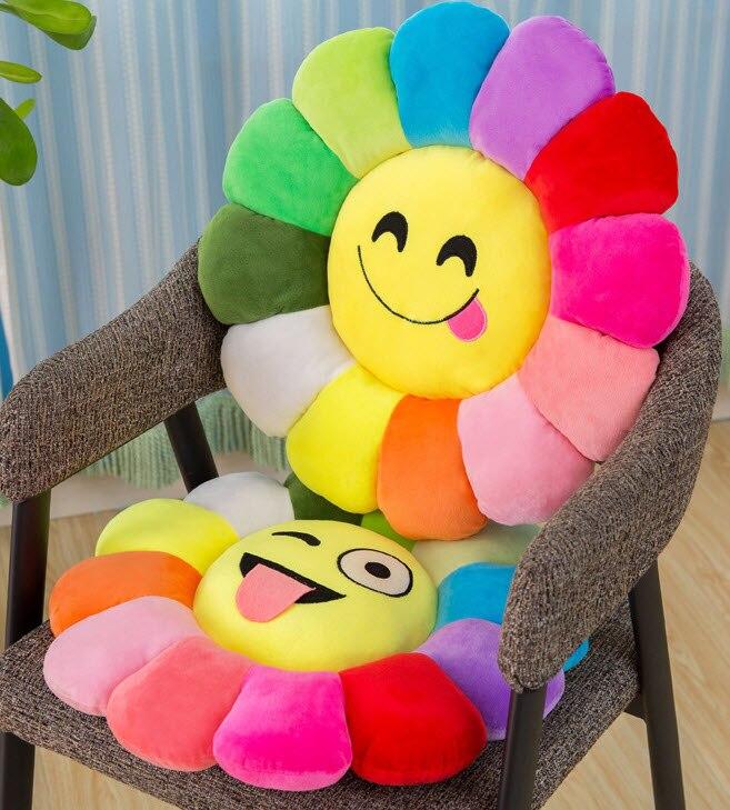 Купить креативная мягкая подушка в форме цветка для сидения с цветами