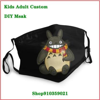 Latest popularity Totoro Potter DIY face mask fashion mouth mask reusable mask mascarillas de tela lavables con filtro