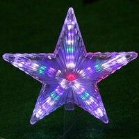 220 v ue plug led natal estrela decotation luzes de plástico à prova dwaterproof água lâmpada decoração da árvore natal guirlanda inverno natal luz