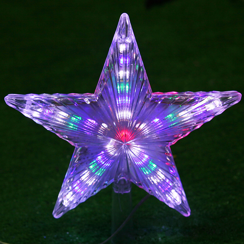 220V EU Plug LED Christmas Star Decotation Lights Plastic Waterproof Lamp Christmas Tree Decor Garland Winter Christmas Light