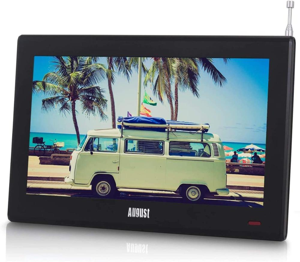 August DA100D 10inch Portable TV with Freeview Digital LCD Television for Car,Kitchen,Beside Table Digital TV for DVB T/DVB T2|lcd television|tv minitelevision digital - AliExpress