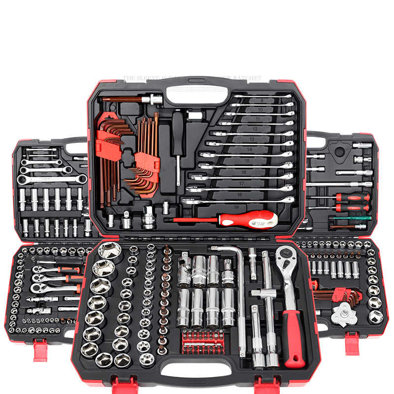 Auto Combination Tool Wrench Set Batch Head Ratchet Pawl Socket Spanner Screwdriver Socket Set Multifunction Car Repair Tool kit