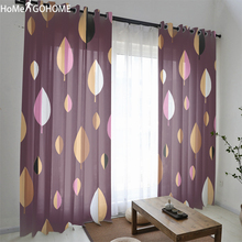 Fallen Leaves 3D Tulle Curtains For Living Room Door Window Curtain Drape Panel Sheer Double Bedroom Gordijnen