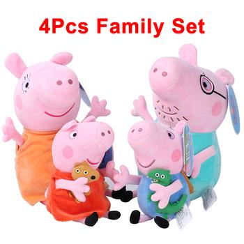 4 sztuk zestaw świnka Peppa świnia George 30 19cm rodzina wypchane pluszowe zabawki lalki strona dekoracji urodziny prezent dla dziewczyny dzień dziecka tanie i dobre opinie Peppa Pig None Pp bawełna 2-4 lat 5-7 lat 8-11 lat 12-15 lat Dorośli 30cm 19cm Unisex Film i telewizja 4pcs