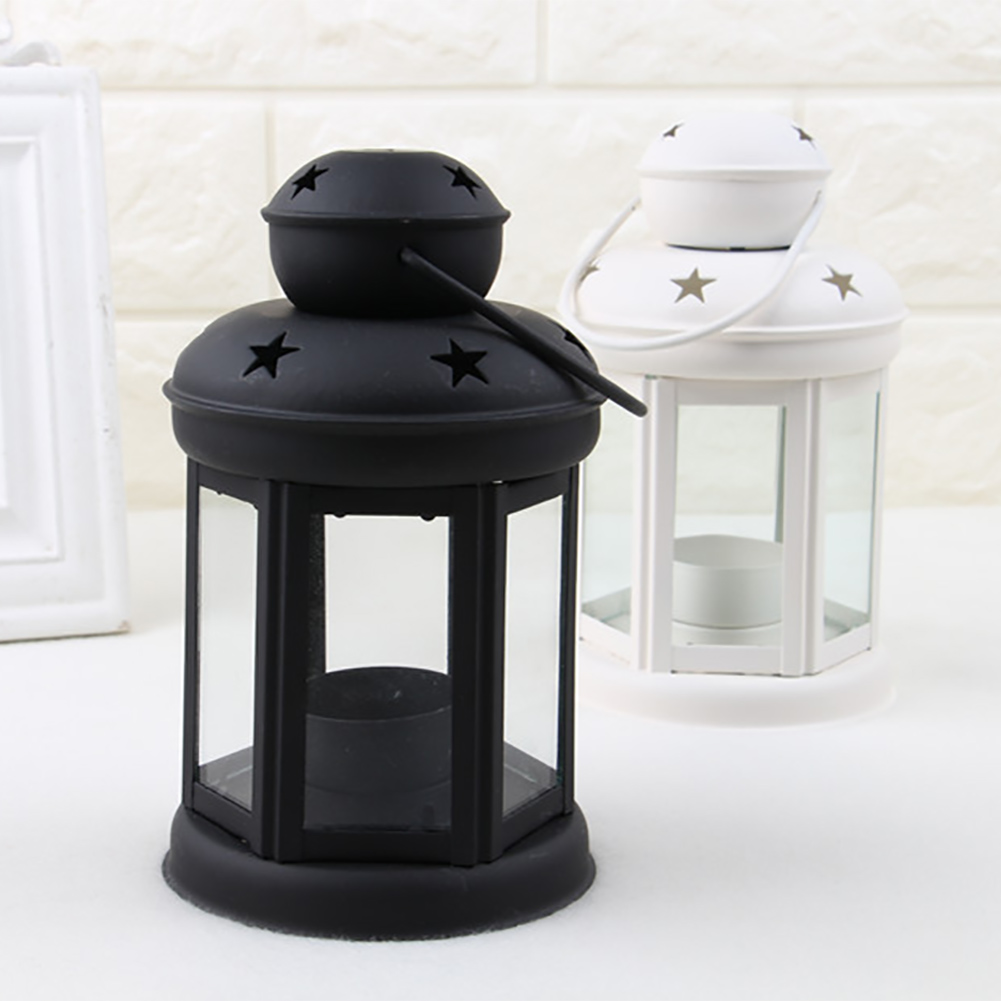 Us 8 88 10 Off Candle Lanterns Tealight Holders Vintage Metal Hanging Indoor Outdoor Iron Structure Holder Wedding Ornament In
