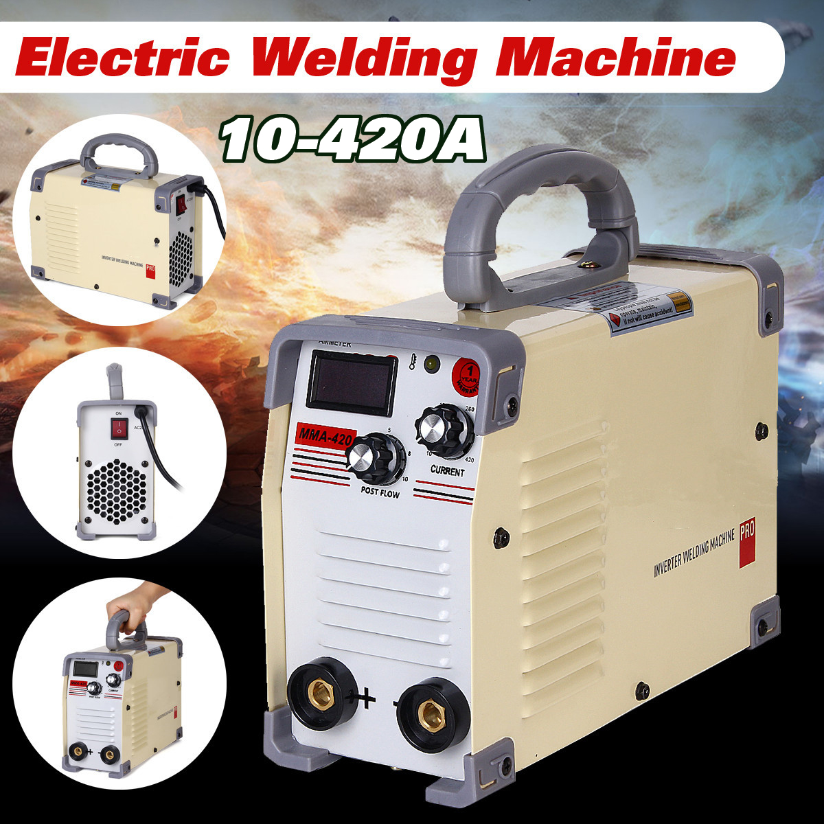 220V AC Welding Machine 10-420A DC Inverter Handheld Mini MMA IGBT Inverter Mini Electric ARC Welders Machine Tool High Quality