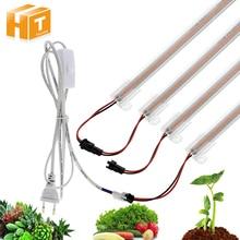 Светодиодный светильник для выращивания, AC220V, 8 Вт, высокая световая эффективность, полный спектр, светодиодный светильник для выращивания растений, 50 см/30 см, 72 светодиодный, 1-6 шт. в наборе