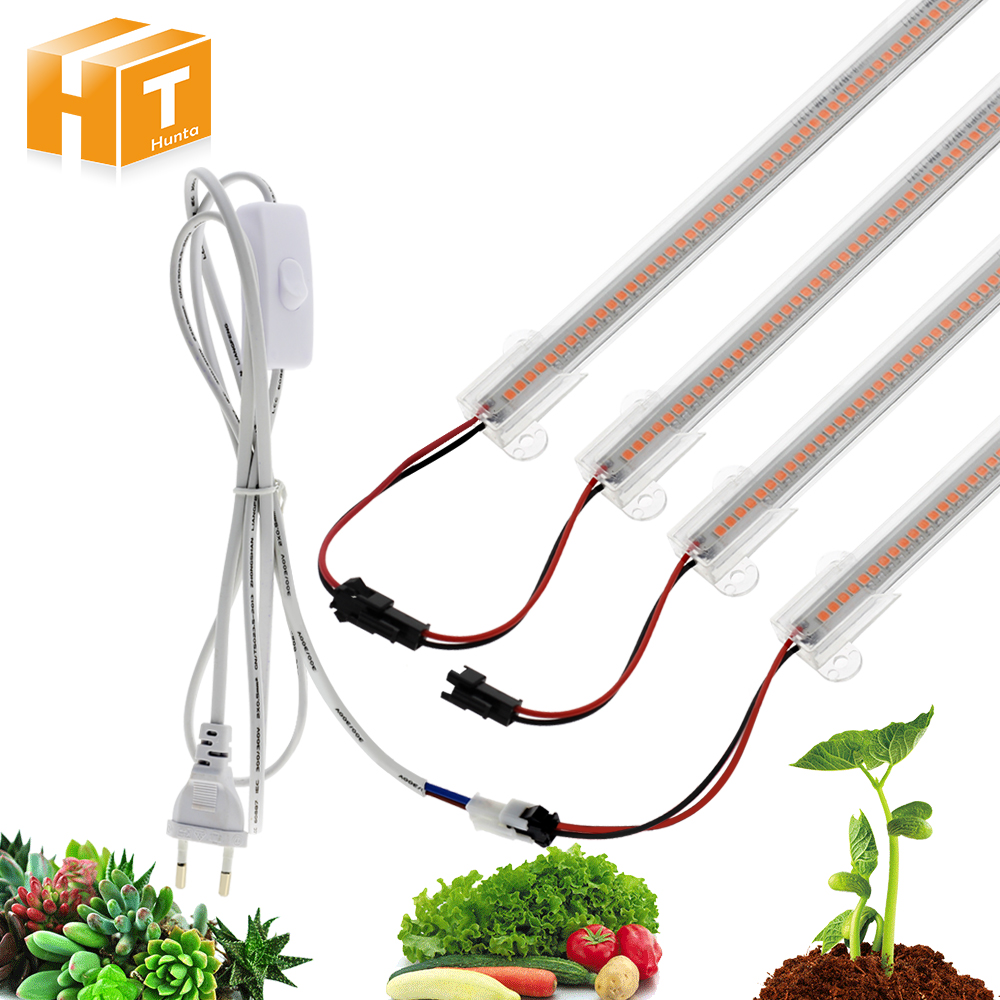 LED Grow Light AC220V 8W High Luminous Efficiency Full Spectrum Grow LED Tube For Plants Growing 50cm / 30cm 72LED 1-6pcs Set.