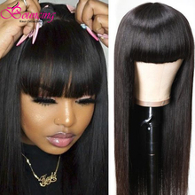Bouncing Full Machine Wig Straight Braziliam Remy Human Hair