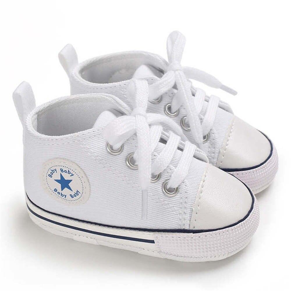 Детская обувь со звездами для мальчиков и девочек, твердые кроссовки из хлопка, мягкие носки с противоскользящим покрытием, с нескользящей подошвой для новорожденных и малышей, для тех, кто только начинает ходить, для детей ясельного возраста; Повседневная парусиновая обувь для младенцев 3