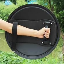 Escudo de liga de alumínio anti-rebites, escudo manual de proteção tática para treinamento de alta qualidade para prevenção de rebites