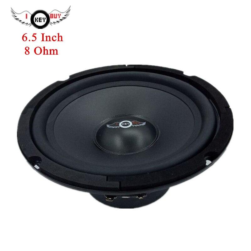 I KEY BUY 1pc 6.5 Inch 300W 8 Ohm Rubber Edge PP Dustcap Cone Midrange Louder Speaker 165mm HiFi Home Theater KTV Music Speakers