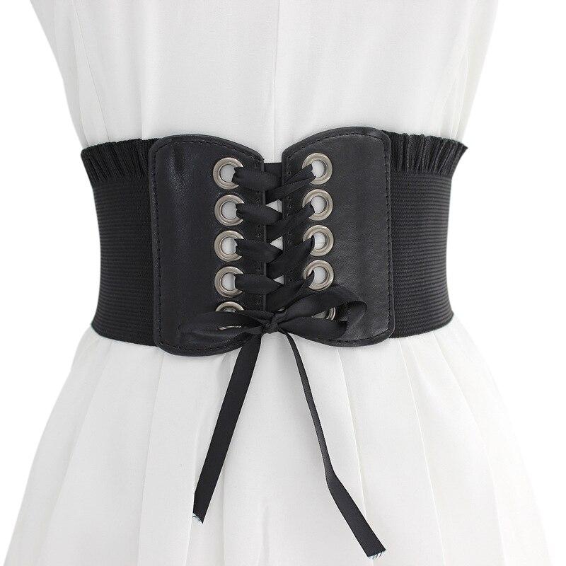 Women High-elastic Super Wide Strap Slimming Shaper Corset Bow-knot Waistband
