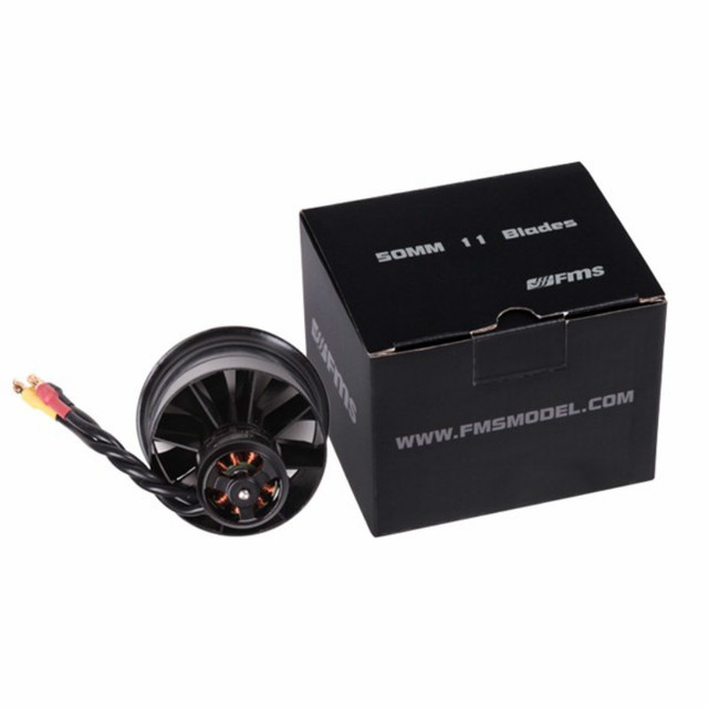 FMS 50mm 12 Blades Ducted Fan EDF With 2627 4S 4500KV 3S 5400KV Brushless Motor for RC Airplane Ducted Fan Plane