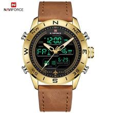 NAVIFORCE Sport Watches for Men Top Brand Luxury Military Leather Men's Wrist Watch Digital Quartz Chronograph Relogio Masculino