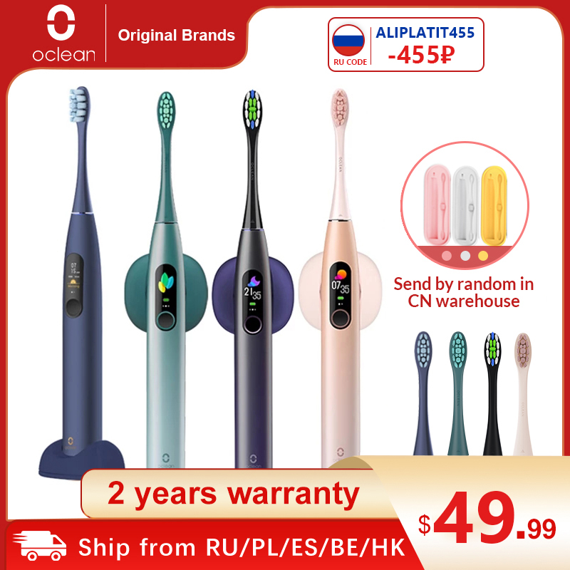 Global Version Oclean X Pro Sonic Electric Toothbrush Adult IPX7 Ultrasonic automatic Fast Charge Tooth Brush With Touch Screen