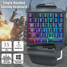 Newest Single Handed Gaming Membrane keyboard 35 keys one hand Ergonomic Game Keypad G92 For PC Laptop Pro PUBG gamer