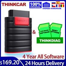 Thinkcar thinkdiag obd2 scanner ferramentas de diagnóstico sistema completo 4 anos diagnóstico do carro tpms autodata frete grátis pk elm327
