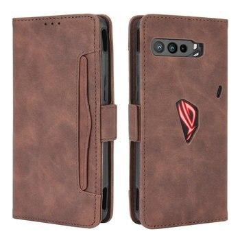 Leather Card Slot Removable Wallet for Asus Rog Phone 3 ZS661KS Flip Case ROG Phone3 360 Protect on ROG3 Strix Cover Shockproof