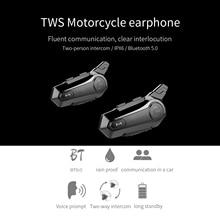 Motorcycle BT Intercom with FM Radio Helmet BT Headset Waterproof Universal Communication System for ATV Dirt Bike Motorcycle