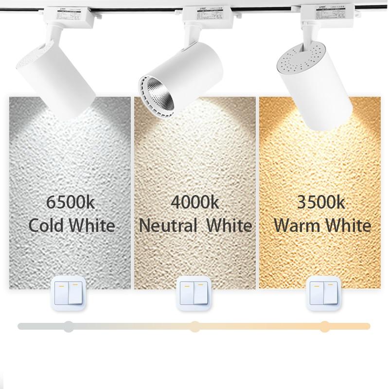cheapest Full Set Led Track Lights 220V 12 20 30 40W COB Track Lamp Lighting Rail Spots Light Fixture Spotlights For Home Kitchen Shop