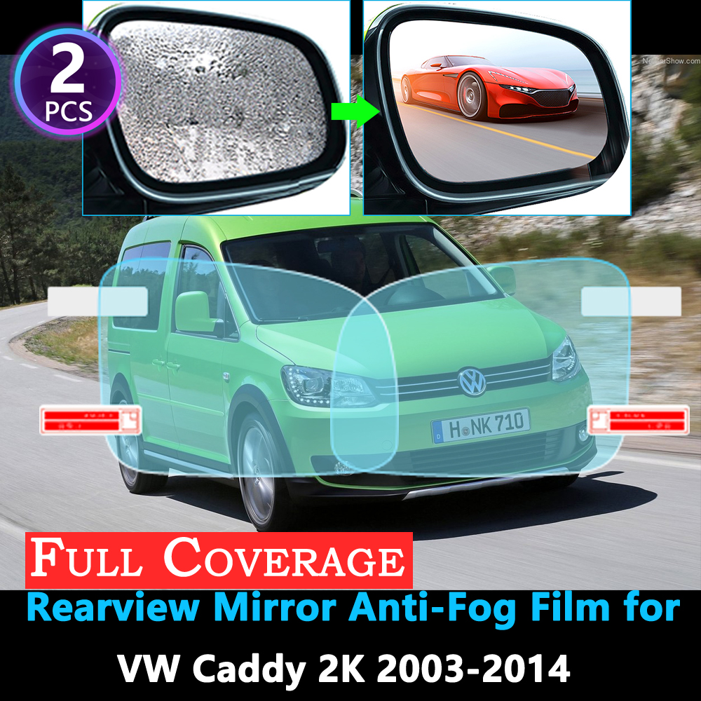 Full Cover Protective Anti-Fog Film For Volkswagen VW Caddy 2K 2003~2014 Car Rearview Mirror Rainproof Films Accessories 2013