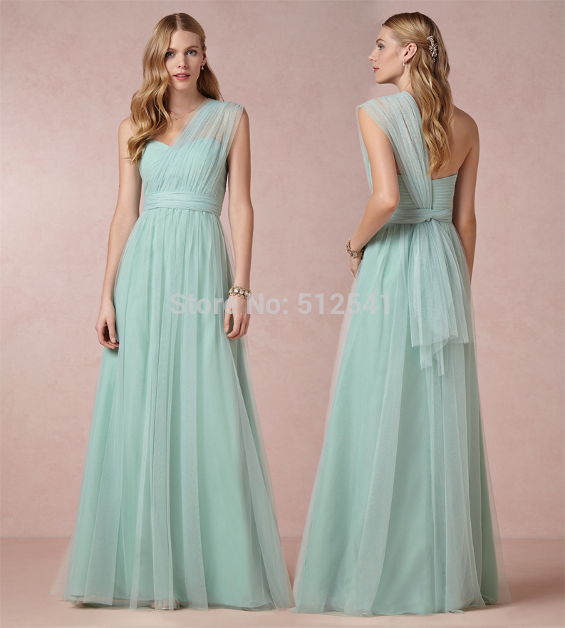 Free Shipping New Sheer Sheath Sweetheart Pleats Ruffle Floor Length One Shoulder Custom Formal Gown Mother Of The Bride Dresses