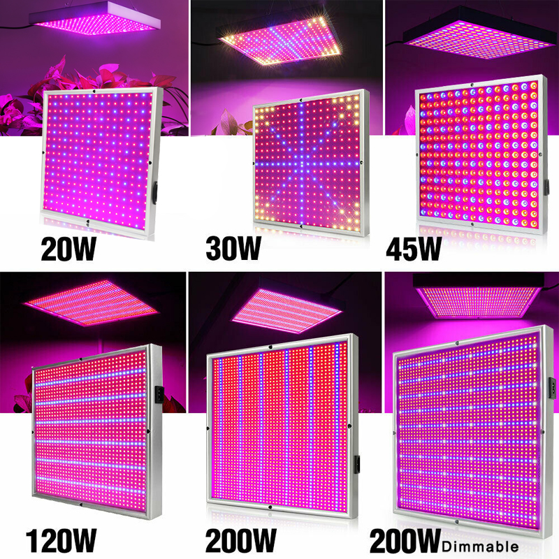 20W/30W/45W/120W/200W LED Grow Light Full Spectrum Plant Lamp Panel Lighting AC85~265V For Greenhouse Plants Hydroponics Flowers