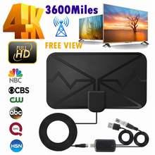 4k antena digital tv interior com amplificador de sinal impulsionador 3600 milhas DVB-T2 hdtv antena hd tv antena digital casa inteligente