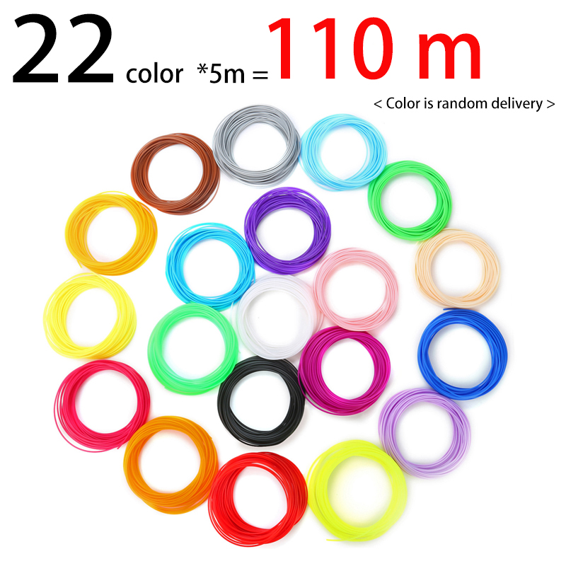 3D Pen pla abs Filament Cheap Free Shipping 1 75mm 22 colors 110 Meters 3D Plastic pla abs for 3d printer or drawing