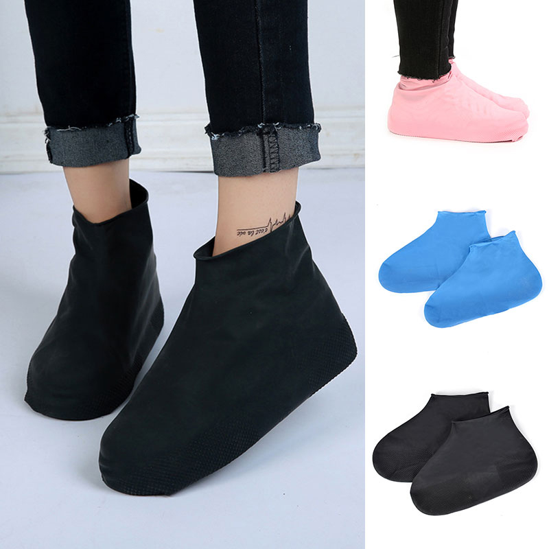 1Pair Disposable Waterproof Shoe Covers Shoe Accessories Protector Case Latex Anti-Slip Thicken Rain Overshoes For Rubber Boots