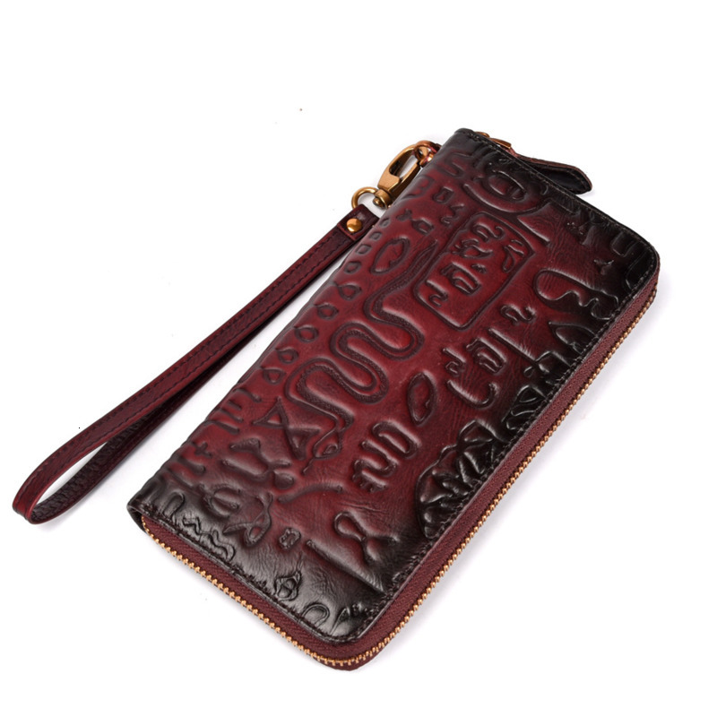 New Genuine Leather Women Wallet Long Female Leather Purse Portomonee Clamp For Phone Bag Card Holder Ladies Purses Designer