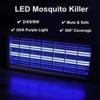 Indoor Electric Insect Killer LED UV-A Electronics Mosquito Repeller Pest Fly Bug Zapper Catcher Traps Home Pest Control Lamp