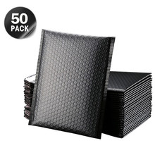 50pcs 6x10 inch Bubble Mailers Padded Envelopes Black pink Usable space Poly bubble Mailer Lined Poly Mailer Self Seal Rose Red