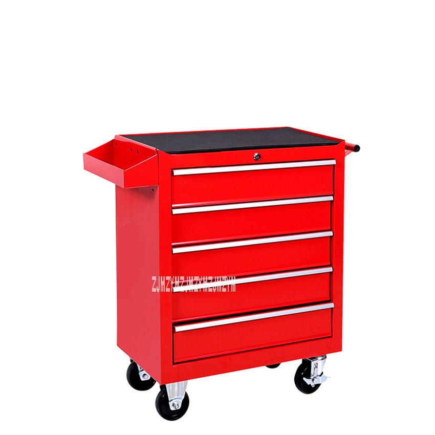 DA-25 5 ящик для хранения инструментов тележка мастерской аппаратные средства мобильный многофункциональный автомобильный Ремонт Техническое обслуживание инструментарий шкаф - Цвет: A
