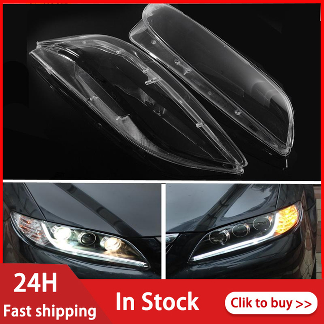 New Car Headlight Glass Cover Clear Automobile Left Right Headlamp Head Light Lens Covers Styling For Mazda 6 2003-2008 TSLM1 1