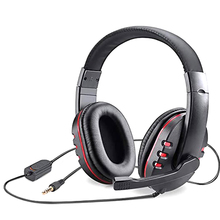 Wired Earphone Gaming-Headset Tablet Noise-Reduction Stereo with Mic for Laptop PS5 Surround-Sound