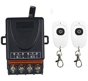 Image 2 - AC 110V 220 V 1CH 1 CH RF ไร้สายรีโมทคอนโทรล10A เอาท์พุทรีเลย์โมดูลรับสัญญาณวิทยุ + ปุ่มเครื่องส่งสัญญาณ