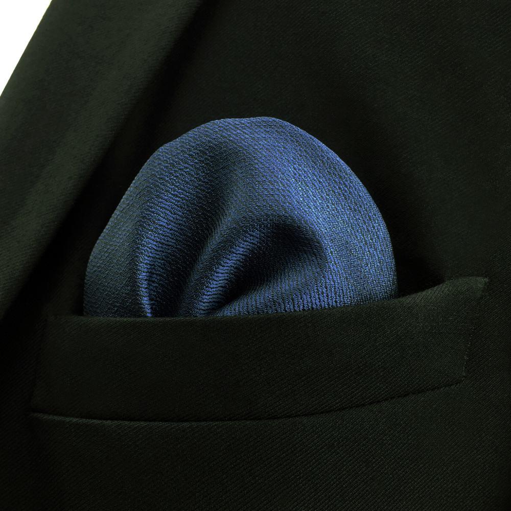 Купить многоцветный однотонный мужской карманный квадратный шелковый